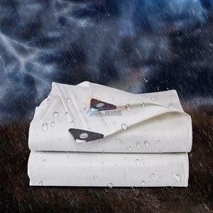 Image 2 - Tewango 헤비 듀티 방수 타포린 두꺼운 캔버스 야외 차양 차양 천으로 자동차 커버 베란다 파티오 지붕