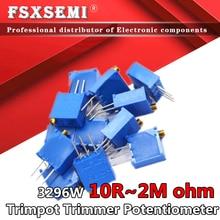 50 10pcs 3296 3296W Trimpot Trimmer Potenciômetro 100 200 500 ohm 20 10 5 2 1K K K K K K 100K 200K 500K 1 50 M 2M 103 100R 200R 500R