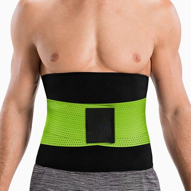 Mens Thermo Neoprene Body Shaper Waist Trainer Belts Slimming Corset Waist Support Sweat Underwear Strap Modeling Shapewear Sets 2