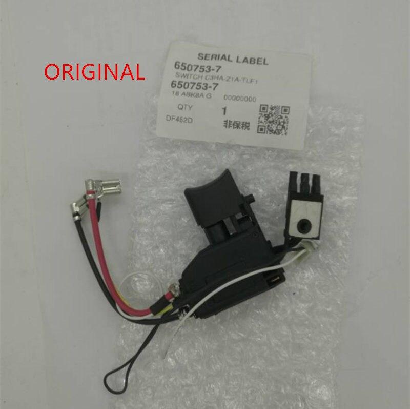 Switch For Makita 650753-7 6507545  DHP482 DF482D DDF482RME DDF482 DDF482Z DHP482RME DHP482Z DHP482RAE DHP482RFE 6507537