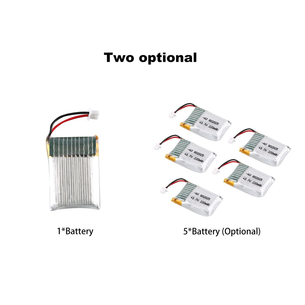 3.7V 220mAh Rechargeable Battery Drone Lipo Battery RC Lithium Battery Lion Battery For Mini Pocket Drone RC Drone Set