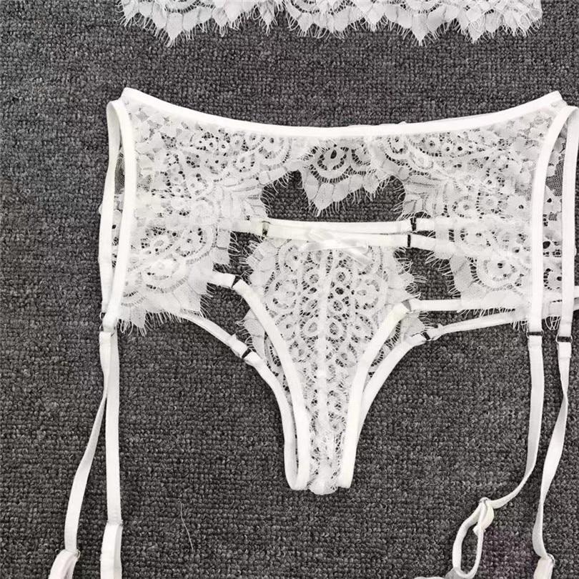 3PC Sexy Panty Garter Bra Set Erotic Lingerie For Women Sexy Underwear Plus Size Babydoll Soutien Gorge Sexy Erotique 30NOV2030