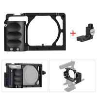 IdealHouse for Sony A6000 A6300 A6500 NEX7 Video Camera Cage + Hand Grip Kit Film Making System with Cable Clamp