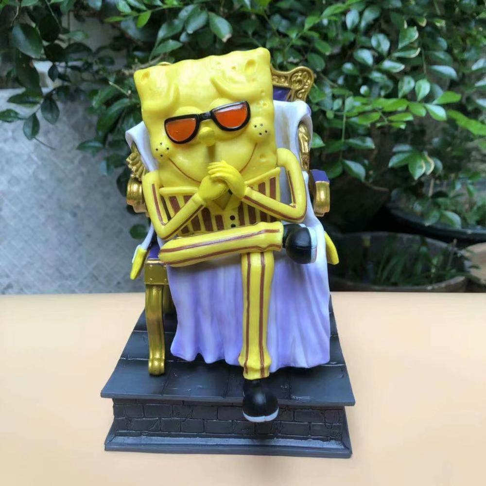 Anime One Piece Cosplay Figure Model Toys SpongeBob-Borsalino Patrick Star-Sakazuki Squidward Tentacles-Kuzan PVC GK Collection