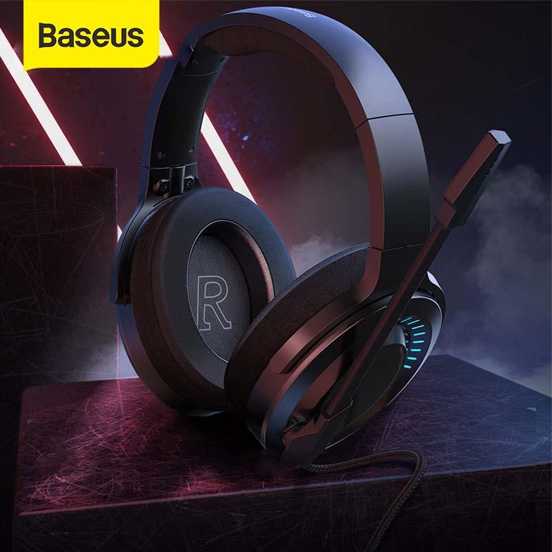 Baseus D02 Wireless Headphones Bluetooth Earphone Foldable Bluetooth Headphone Headset Handsfree Headphones For Phone With Mic Leather Bag