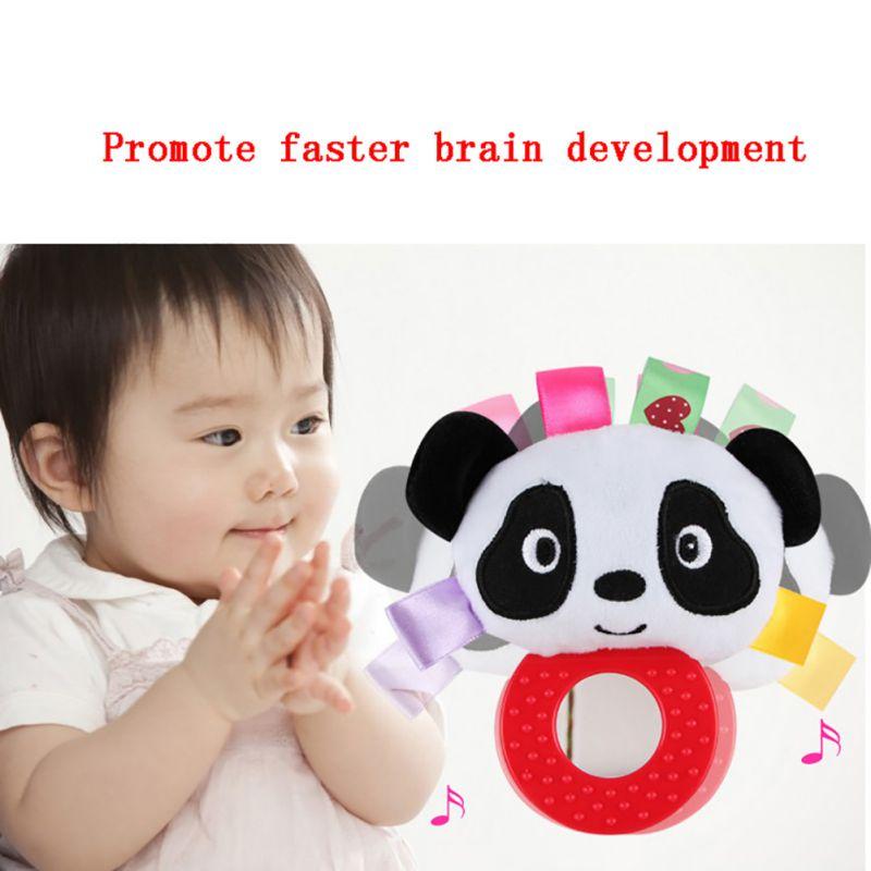 2019 Baby Puzzle Rattles Lathe Hanging Ring Animal Rattle Crib Hanging Baby Stroller Hanging Toys Stuffed Soft Toys
