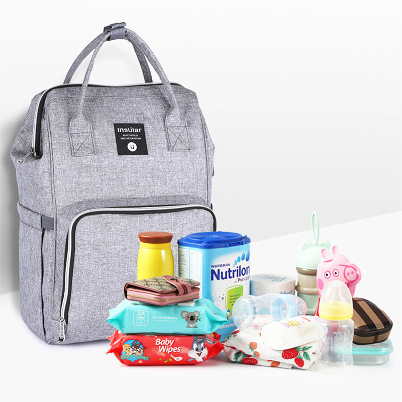 Maternity Nappy Bag Baby Diaper Organizer Bag Mom Changing Mummy Travel Backpack