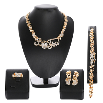 Nigerian Beads Wedding Jewelry Set Bridal Dubai Gold Color Jewelry Sets African Beads Necklace Bracelet Jewelry Set beaqueen luxurious african cubic zirconia beads jewelry set nigerian wedding yellow bridal jewellery sets for women js091
