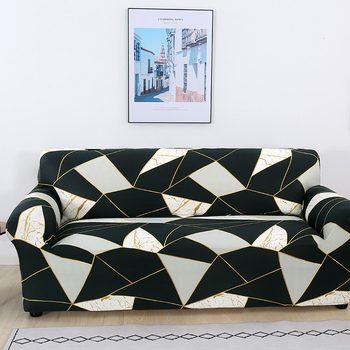 Sofa Covers for Living Room Modern Floral Printed Stretch Sectional Slipcover Polyester L Shape Armchair Couch Case 1/2/3/4 Seat 18