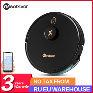 NEATSVOR X600 Pro Robot Vacuum Cleaner 6000PA Poweful Suction 5200mA Auto Charge vacuum Laser Navigation Draw Cleaning Area