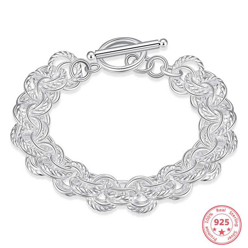 Модный женский браслет из стерлингового серебра 925 пробы, роскошные ювелирные изделия из нескольких линий Bizuteria Gemstone Pulseras Plata De Ley 925 Mujer, браслет пандора шармы серебро 925 оригинал gümüş bileklik