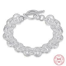 Fashion Women 925 Sterling Silver Bracelet Luxury Multi Line Jewelry Bizuteria Gemstone Pulseras Plata De Ley 925 Mujer Bracelet цена 2017