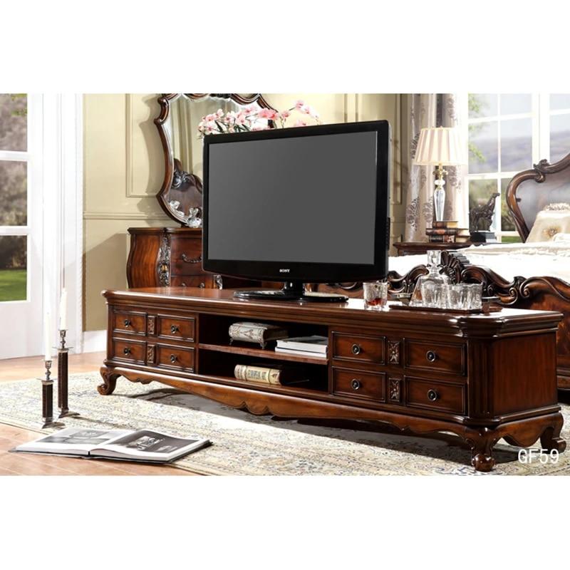Klasik Meja Tv Tv Cabinet Dibuat Dengan Kayu Joli Meuble Tv Bois Massif Horoshij Shkaf Iz Tv Gf59 Stand Tv Aliexpress