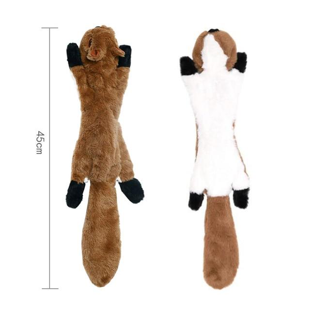 Cute Plush Squeaky Pet Toys-  - Rabbit - Squirrel - Skunk - Fox 3