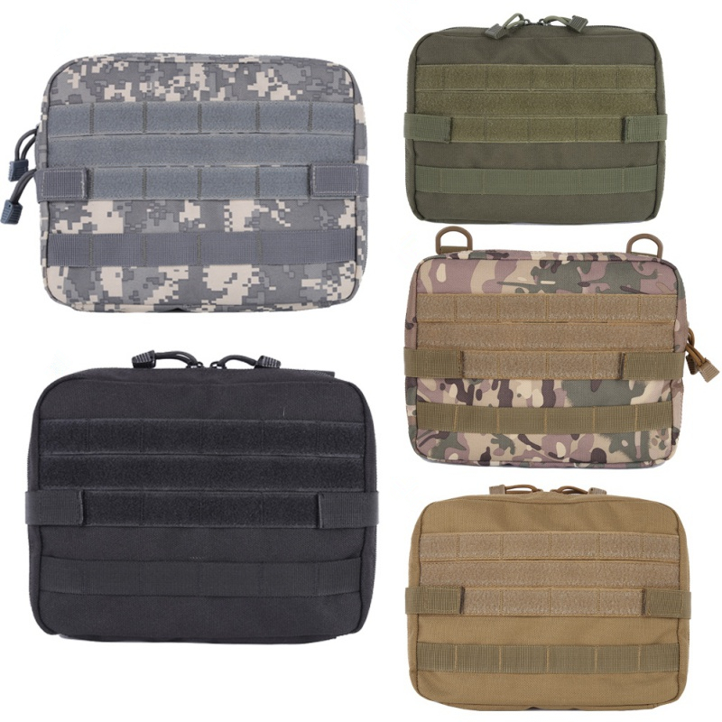 Creative Tigris Military MOLLE Admin Pouch Tactical Multi Medical Kit Bag Utility Tool Belt EDC Pouch For Camping Hiking Hunting