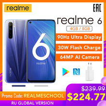 realme 6 Global Version Mobile Phone 4GB 8GB RAM 128GB ROM 3
