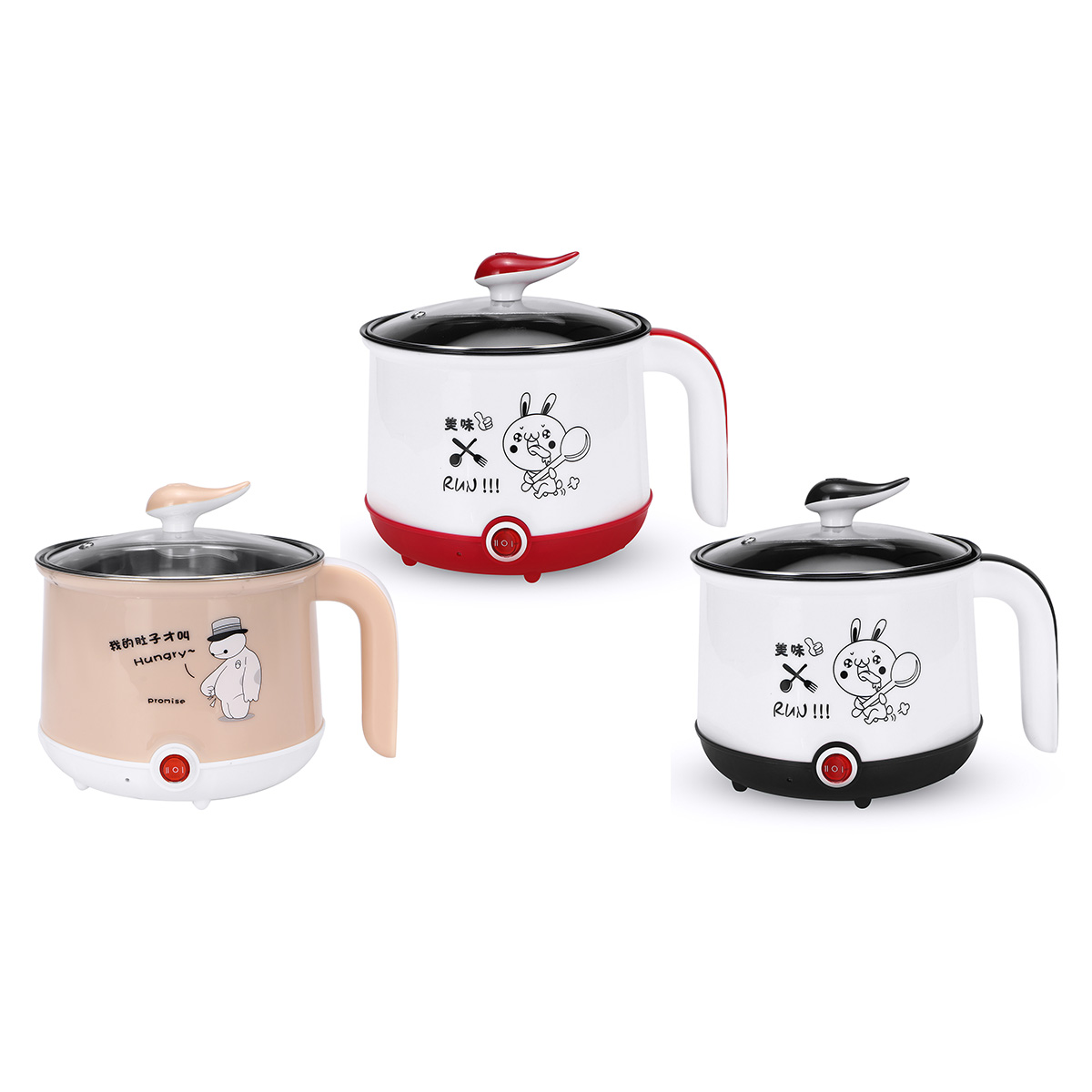 600W 220V EU Mini Multifunction Electric Cooking Machine Single Layer Available Hot Pot Multi Electric Rice Cooker