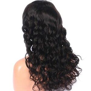 Image 4 - LUFFYHAIR Wellenförmige Brasilianische Remy Haar 5x 4,5 Seide Basis Volle Spitze Perücke 130% Dichte Menschliches Haar Natürliche Schwarze Gebleichte Knoten für Frauen