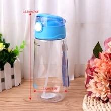 500 мл детская портативная для кормления Бутылка для питьевой воды с соломинкой Q1FE