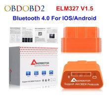 Aermotor elm327 v1.5 bluetooth 4.0 elm 327 1.5 wifi obd2 ferramenta de diagnóstico do carro para android/ios obdii bt v4.0