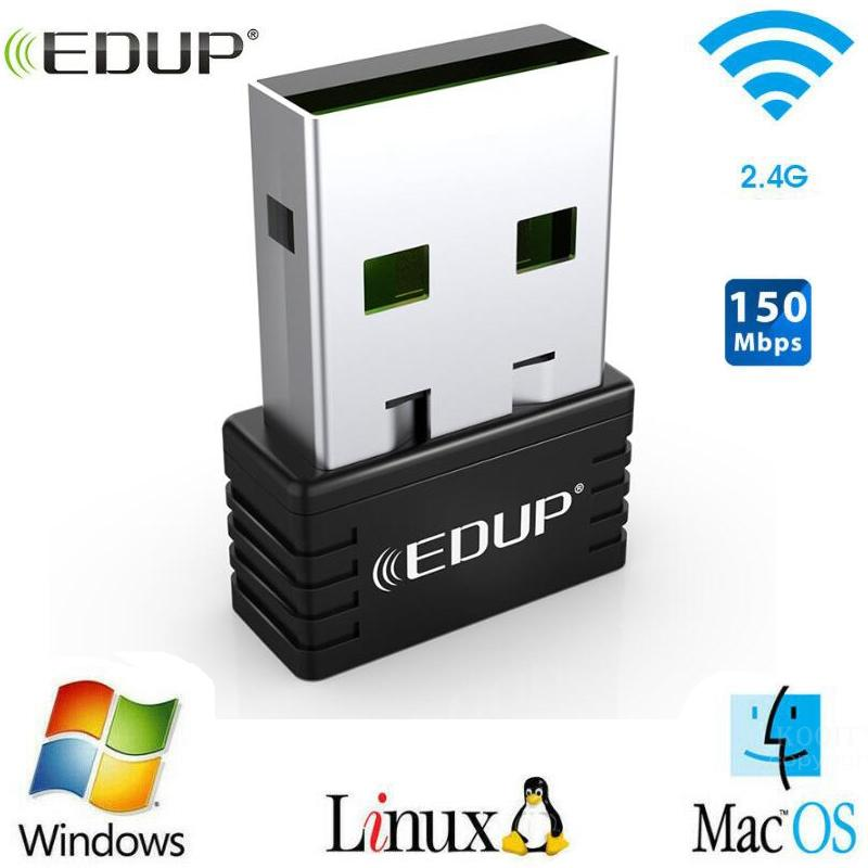 EDUP Nano Usb Wireless Wifi Adapter 150mbps Wi-fi Receiver 802.11n Usb Ethernet Adapter Network Card Support Windows Mac For PC