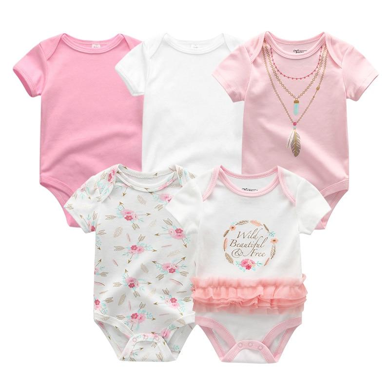 2021 5 шт./лот для маленьких мальчиков одежда с изображением единорога Одежда для девочек Боди для маленьких девочек, одежда для детей от 0 до 12 месяцев, Одежда для новорожденных 100% хлопок для мальчиков и девочек; Roupas de bebe 3