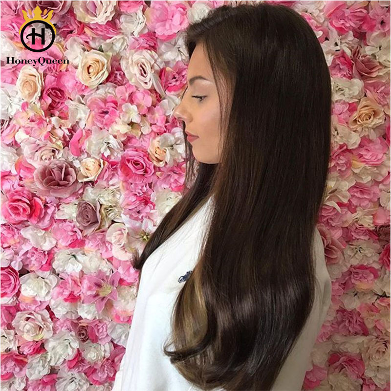 Kosher Wigs Silk Base Jewish Wigs For Women 150% Density Double Drawn European Human Hair Wigs Honey Queen Remy Full Ends