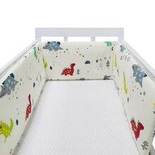 Baby Crib Bumper Cotton Thicken One-piece Crib Around Cushion Cot Protector Pillows Newborns Room Bedding Decor room decoration