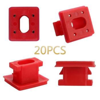 New 20pcs Interior Panel Fixing Buckle For BMW E46 / E65 / E66 / E83N Dashboard Dash Trim Strip Clips Red Insert Grommets TSLM1 image