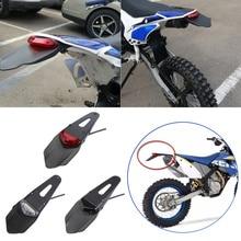 범용 오토바이 리어 펜더 번호판 홀더, 12V LED 미등 범용 브레이크 라이트 모터 부품 브래킷 홀더
