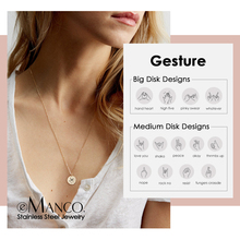 Choker Necklace Jewelry 316l-Stainless-Steel Personalized-Pattern Emanco Letter Engrave