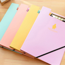 A4 Creative Office Stationary Double-clip Document File Folder Data Paper Clipboards with Bandage