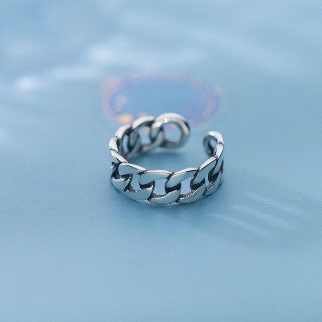 Купить leouerry стерлинговое серебро 925 пробы широкая цепочка кольцо картинки цена