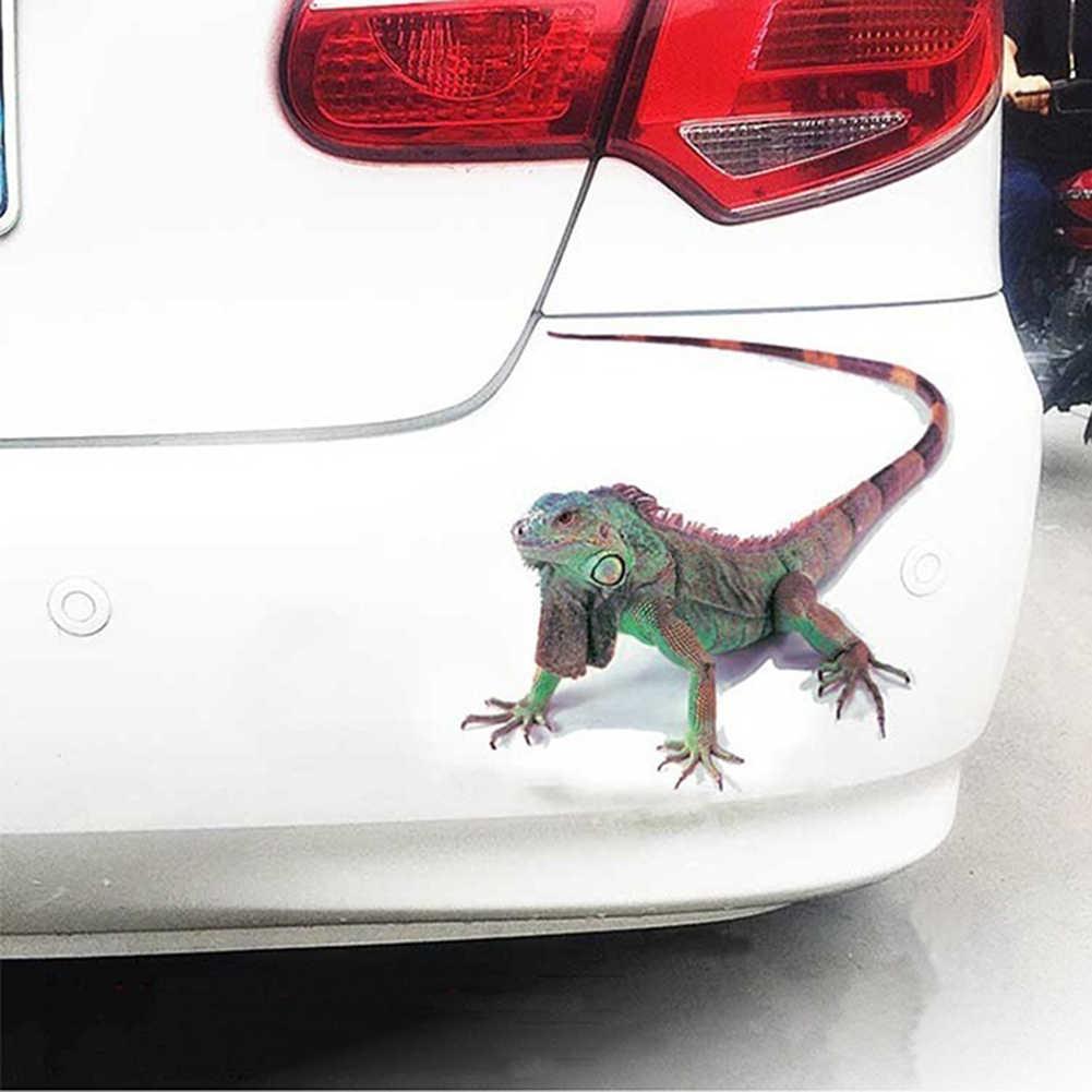 ملصق سيارة ثلاثي الأبعاد على شكل عنكبوت سحلية عقرب على شكل حيوان ثلاثي الأبعاد ملصق مصد للنافذة على السيارة مقاوم للمياه ملصق عالي الالتصاق