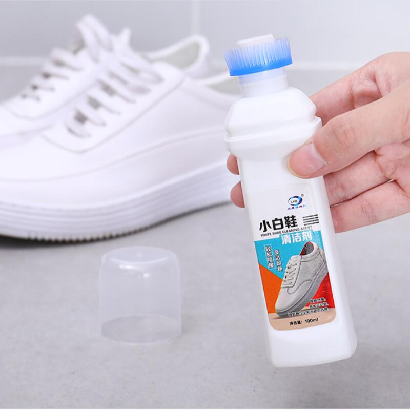 100ml Detergent Suits White Shoes, Leather Shoes, Sports Shoes Brightener For Fast Cleaning And Stain-removing, Free Shipping