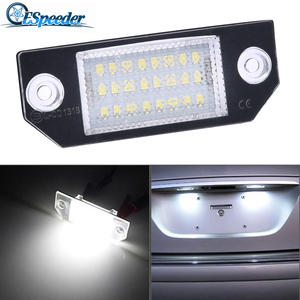 Tail-Light Lamps License-Plate-Lights Number-Accessories Ford Focus C-MAX Espeeder 12v