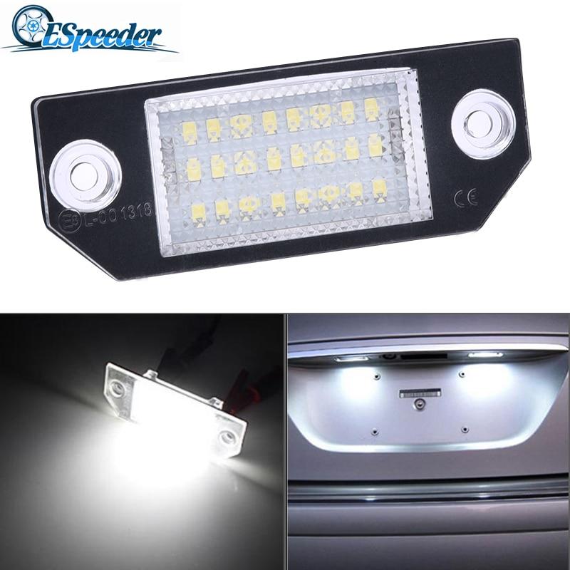 ESPEEDER 12V רכב לוחית רישוי אורות מספר אביזרי מנורות זנב אור עבור 03-18 פורד פוקוס C-MAX 03 -08 MK2