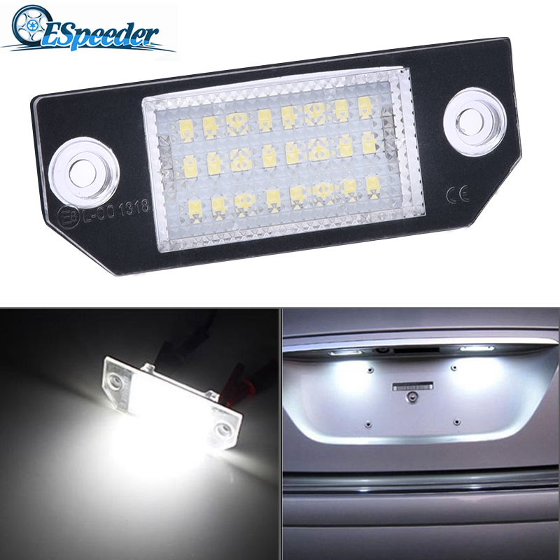 ESPEEDER 12V Car License Plate Lights Number Accessories Lamps Tail Light For 03-18 Ford Focus C-MAX 03-08 MK2