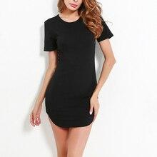 Женское повседневное мини-платье, Коктейльные Вечерние приталенные однотонные платья с круглым вырезом