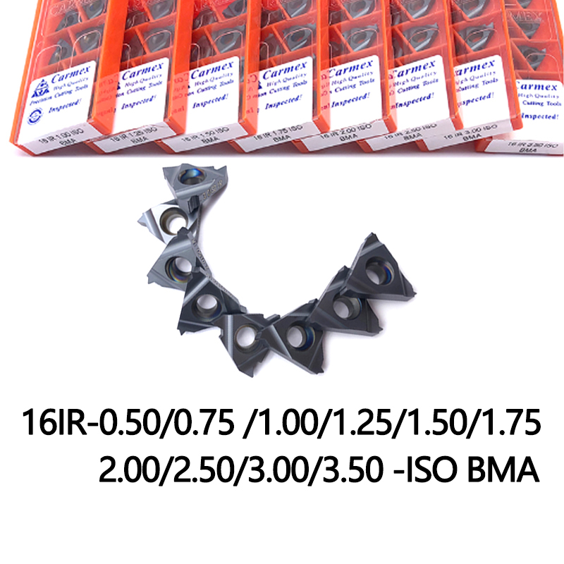 16IR 0.75 1.00 1.25 1.5 2.0 ISO High Quality Threading Inserts Turning Tools For Indexable Tungsten Carbide