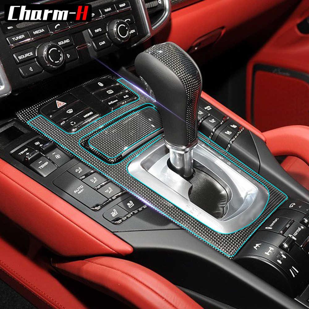 For Porsche Cayenne 2011 2017 Interior Transparent Protective Film Center Console Dashboard Gear Shift Panel Protection Sticker Aliexpress