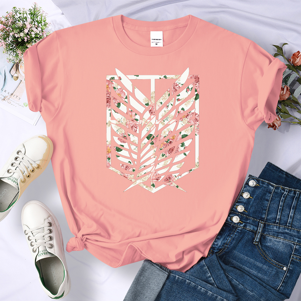 Anime Attack on Titan Comics Printing T Shirts Female Harajuku Brand Tshirt Summer Crewneck Clothing Fashion Oversize T Shirts|T-Shirts| - AliExpress