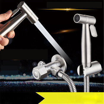 Stainless Steel Toilet Hand Held Bidet Faucet Sprayer Bidet Set Sprayer Toilet Spray For Bathroom Self Cleaning Shower Head bathroom toilet hand held shattaf bidet diaper sprayer kit wall mount golden toilet flusher bidet sprayer set