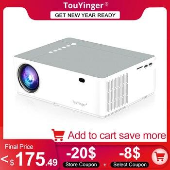 TouYinger M19 M19K Best LED Home Theater Video Projector Full HD 1080P 6800lumen FHD 3D Movie Beamer HDMI AV USB data Projectors 1