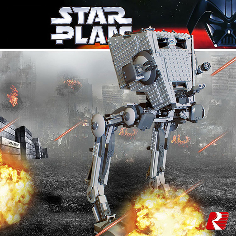 Star Wars Imperial AT-ST WALKER Collector's Building Blocks Bricks Compatible Lepinglys 10174 75153 Educational Birthday Toys