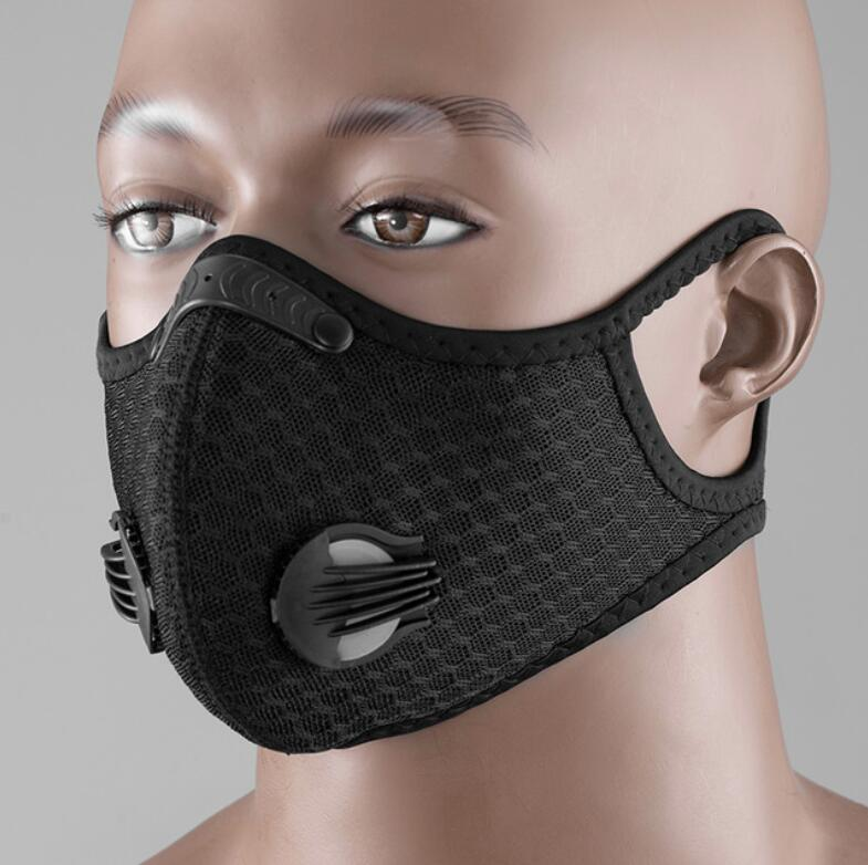 5 Layer Pm2.5 Activated Carbon Protection Dust Mask For Cycling Bike Bicycle Masks Dust Pollution Mask Filter Anti-dust Virus