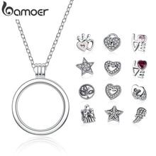 Подлинное женское серебряное ожерелье и подвеска из серебра 925 пробы, PSF001