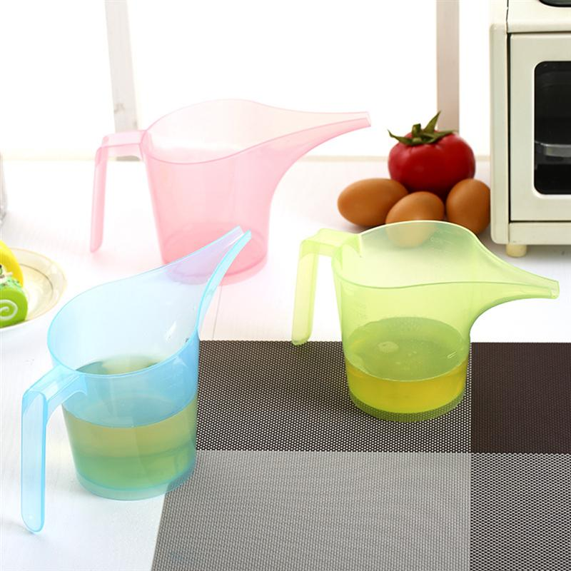 2pcs Creative Measuring Cup Funnel Pitcher Candy Color Measuring Cup With Scale Home Kitchen Accessories (Random Color)