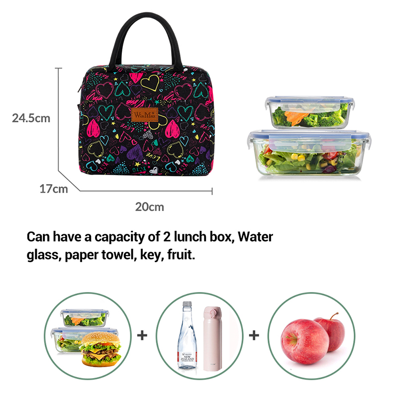 portátil isolado saco de almoço comida térmica