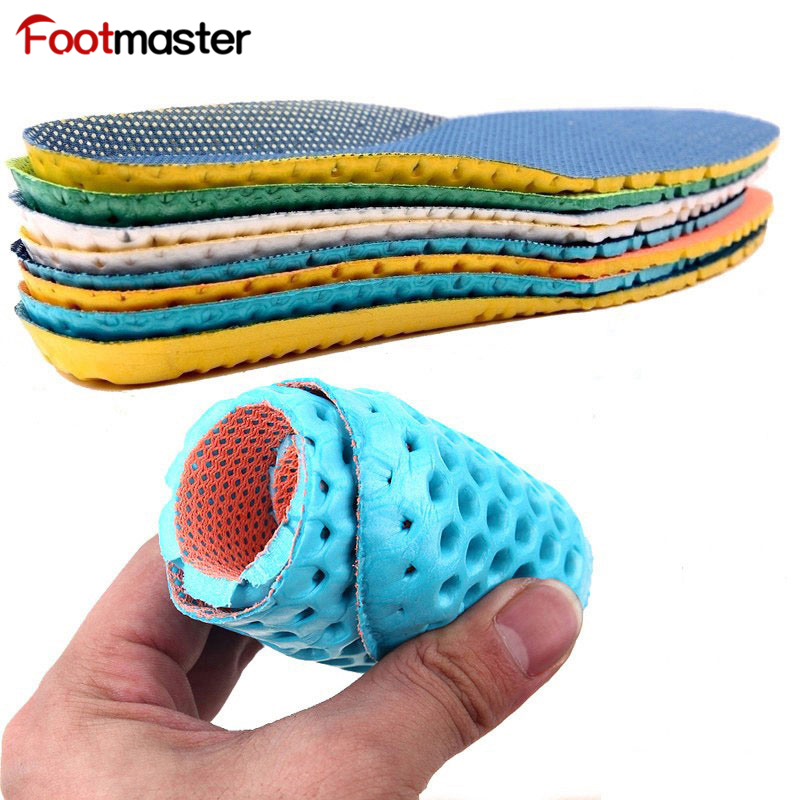 FootMaster Elastic Shock Absorbing Shoe Insoles Breathable Honeycomb Sneaker Inserts Sports EVA Shoe Insole Unisex